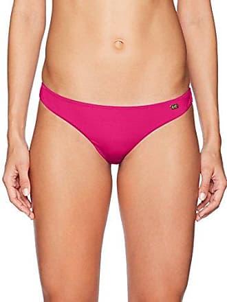 Emporio Armani EA7 Womens Studs Solid Brazilian Bikini Bottom, Azalea, L