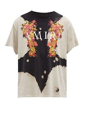 8ff716d4 Amiri Dragon And Logo Print Tie Dye Cotton T Shirt - Mens - Black Multi