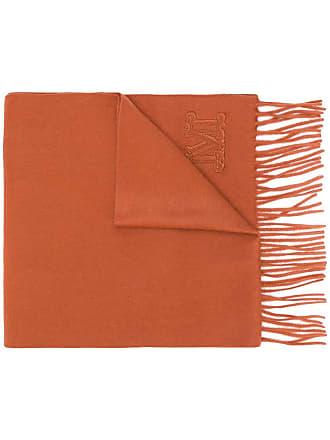 Max Mara monogrammed scarf - Marrom