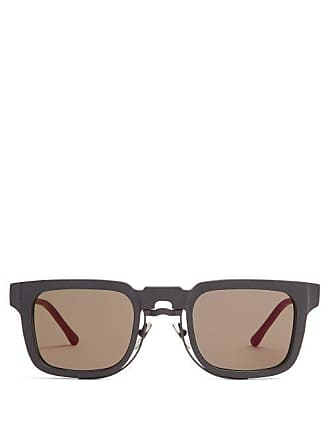 34fc8e3c65 Kuboraum Square Frame Acetate Sunglasses - Mens - Black