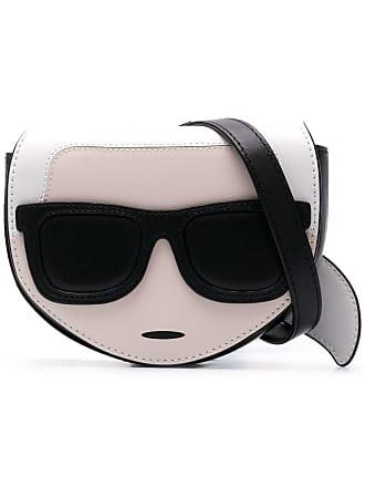 Karl Lagerfeld Pochete de couro K/Ikonik - Preto