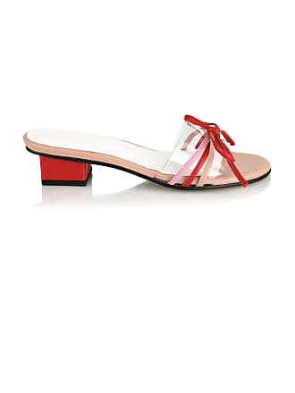 Yuul Yie Bow-Embellished PVC-Trimmed Leather Sandals