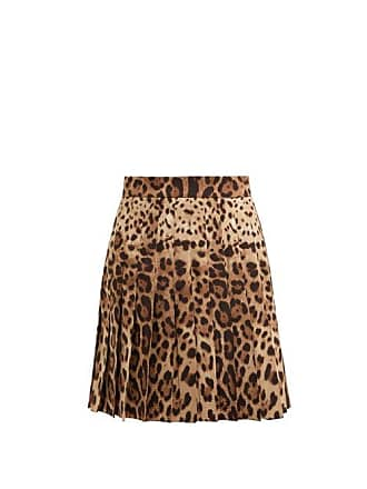279574060c Dolce & Gabbana Leopard Print Wool Blend Pleated Skirt - Womens - Leopard
