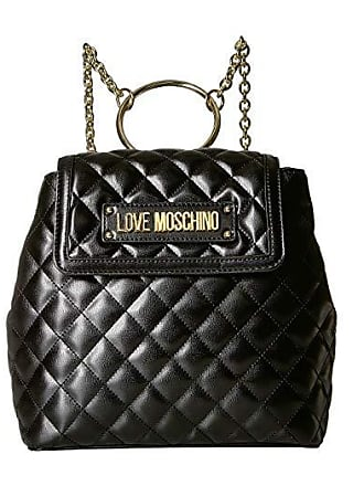 43ed1ce397 Love Moschino Shinny Quilted Backpack (Black) Backpack Bags
