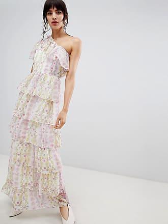 110cfb733e9d Vero Moda Ruffle One Shoulder Floral Maxi Dress