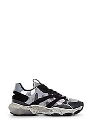 Valentino Mens Runway Camouflage Sneakers - Black Size 10.5 M