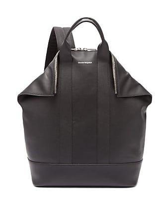 b62b5272439d44 Alexander McQueen Alexander Mcqueen - De Manta Leather Backpack - Mens -  Black