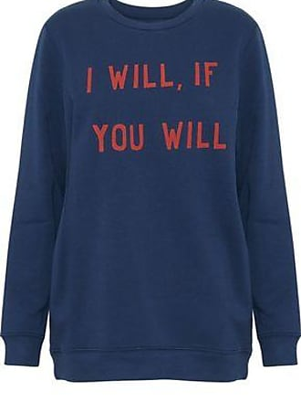 Zoe Karssen Zoe Karssen Woman Printed Cotton-blend Sweatshirt Navy Size XS