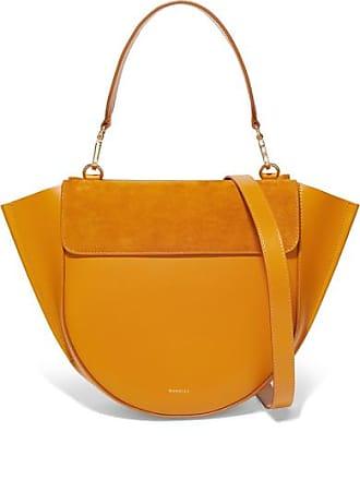 Wandler Hortensia Medium Suede And Leather Shoulder Bag - Mustard