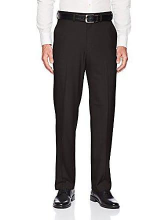 Haggar Mens Big and Tall Big & Tall Premium Comfort Classic Fit Flat Front Pant, Black 58Wx30L