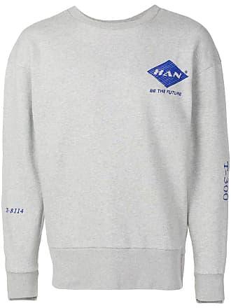 Han Kjobenhavn Moletom com logo bordado - Cinza