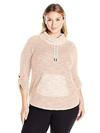 dc1f4427d6 Calvin Klein Performance Womens Plus Size Puffy Knit Funnel Neck Sweatshirt