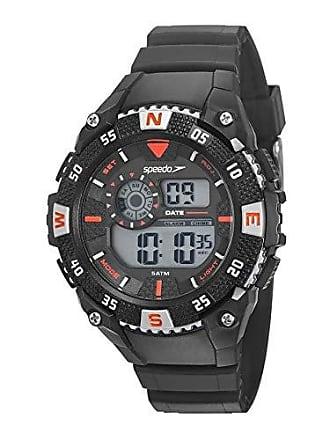Speedo Relógio digital Speedo masculino Esportivo Preto/vermelho