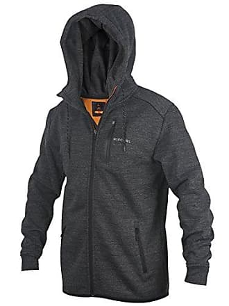 Rip Curl Mens Departed Anti Series Zip up Hooded Fleece Sweatshirt, Navy, Small