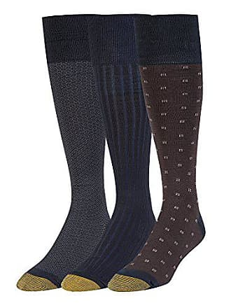Gold Toe Mens Over The Calf Dress Socks, 3 Pairs, navy, Shoe Size: 6-12.5