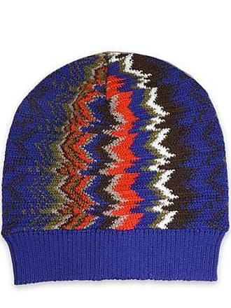 64c59bb3712 Missoni Missoni Woman Crochet-knit Wool-blend Beanie Blue Size