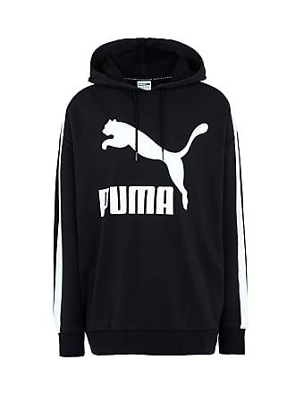 eed73ab9a8 Puma Classics Logo T7 Hoody Cotton Black - TOPWEAR - Felpe