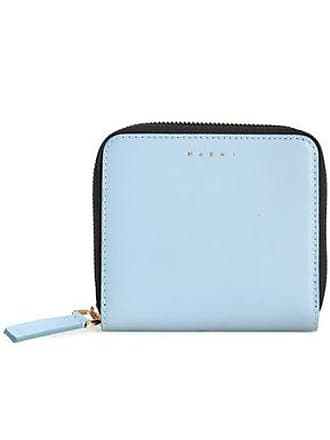 Marni Marni Woman Leather Wallet Sky Blue Size