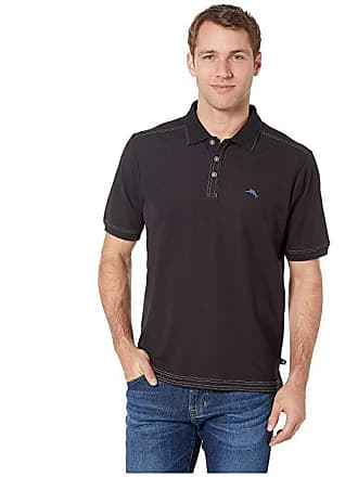 15d8d74ec65220 Tommy Bahama Emfielder 2.0 Polo (Black) Mens Clothing