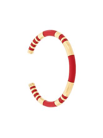 Aurélie Bidermann Pulseira Positano banho em ouro - Vermelho