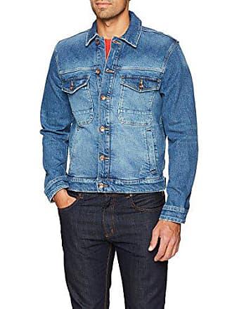 7608929a38 Esprit 028ee2g010 Veste en Jean, Bleu (Blue Medium Wash 902), Large Homme