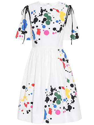 Oscar De La Renta Printed stretch cotton dress