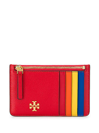 Tory Burch colour block coin purse - Red