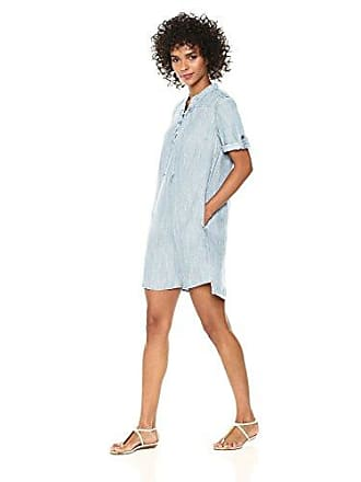 2afe05ea54 Chelsea & Theodore Womens Short ROLL TAB Sleeve with LACE UP Split Neck Tunic  Dress,