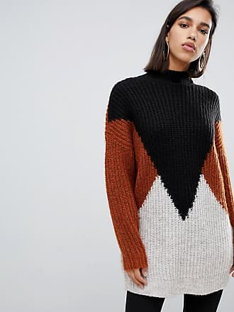 Y.A.S oversize color block knitted sweater - Multi