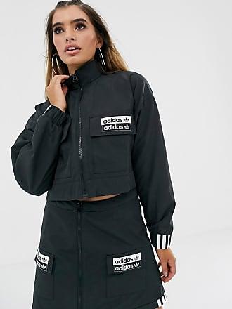 adidas Originals – RYV – Violette Jacke mit kurzem Schnitt und aufgesetzter Tasche