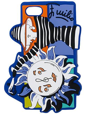 Emilio Pucci Capa para iPhone 7 estampada - Azul