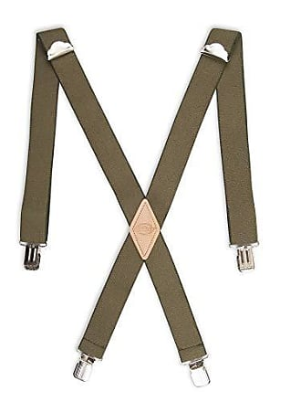 Dickies Mens 1-1/2 Solid Straight Clip Suspender,Olive,One Size