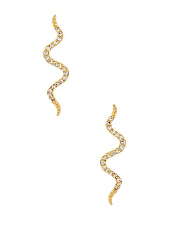 8 Other Reasons Snake Crawler Earrings in Metallic Gold