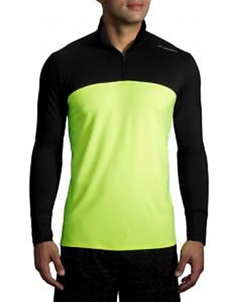 Brooks Mens Dash Half-Zip Shirt - Black/Nightlife