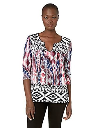 Tribal Womens 3/4 Sleeve Henley Top, Melon, L