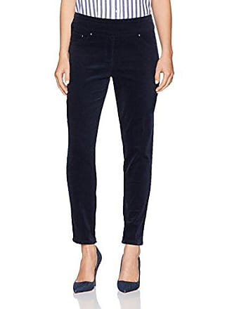 Ruby Rd. Womens Petite Pull-on Extra Stretch Corduroy Pant, Navy, 4P