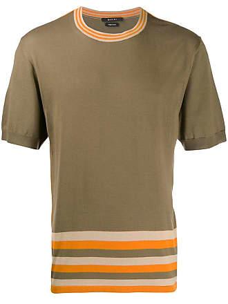 Qasimi stripe detail T-shirt - Brown
