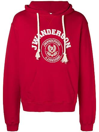 J.W.Anderson logo print hoodie - Red