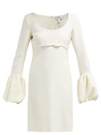 Giambattista Valli Scoop Neck Bubble Cuff Crepe Mini Dress - Womens - Ivory