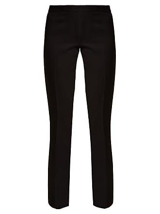 Giambattista Valli Crepe Straight Leg Trousers - Womens - Black