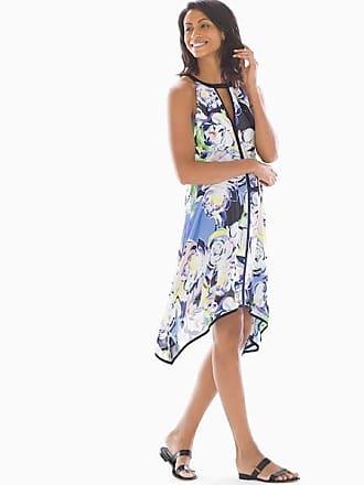 Adrianna Papell Handkerchief Hem Dress Multi Blue, Size 12, from Soma