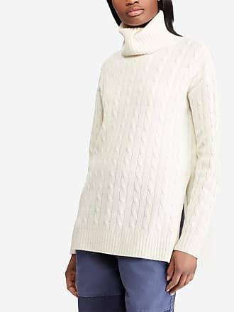Polo Ralph Lauren Pull long à col roulé laine et cachemire femme Beige Polo  ... 6aaba71a1fe2