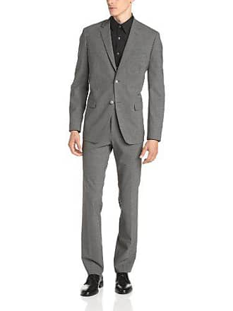 Theory Mens Wellar Half Canvas New Tailor Suit Jacket, Charcoal, 46