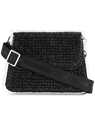 0711 Monaco large woven clutch - Black