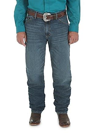 Wrangler Mens 20X Cool Vantage Competition Relaxed Fit Storm Blue Jean, Storm Blue, 28x36