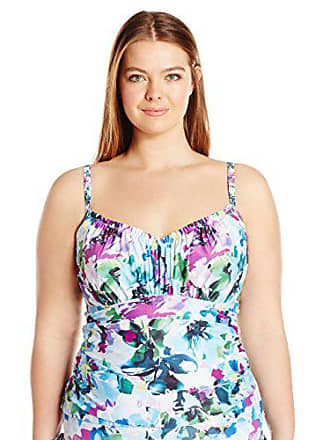 Sunsets Womens Plus-Size Sweetheart Shirred Tankini with Foam and Underwire, Monaco, 22W/D-DD Cup