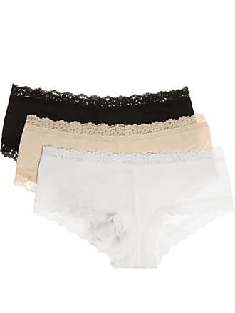 0dcff1a20564 Hanky Panky Set Of Three Lace-trimmed Stretch-organic Cotton Jersey Boy  Shorts -