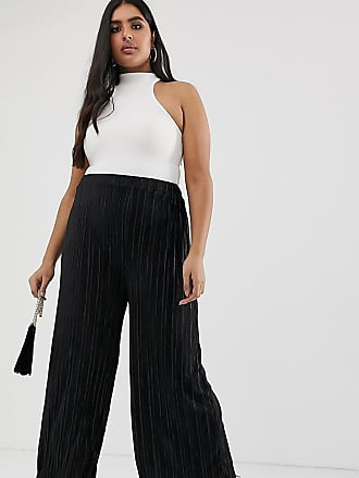 ba04cfc113be Outrageous Fortune Plus pleated flare pant in black