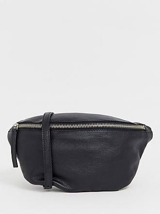 Asos leather classic bum bag - Blue