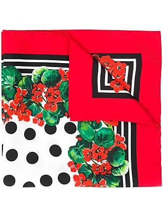 Dolce & Gabbana floral print scarf - Vermelho